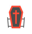 vampire coffin halloween related icon flat design vector image vector image