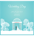 Weding arch park vector image vector image