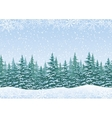 Winter landscape with fir trees and snow vector image vector image