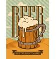 wooden glass of beer vector image vector image
