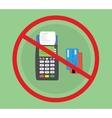 credit debit card machine hacked vector image