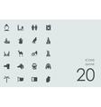 Set of Qatar icons vector image