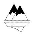 alps mountains icon vector image vector image