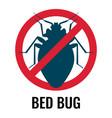 anti bed bug emblem white vector image vector image