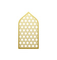 arab window door pattern arabian islamic vector image vector image