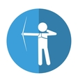 archery player aiming bow game shadow vector image