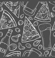 background of beer and pizza vector image vector image