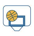 Basketball ball and board icon