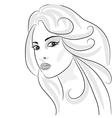 Beauty girl sketch vector image
