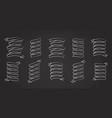 chalk stroke blank label ribbon set vector image vector image