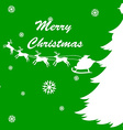 Christmas card template with reindeers vector image vector image