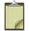 clipboard corner paper page vector image vector image