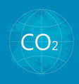 co2 environment pollution concept vector image