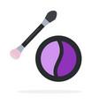 compact purple eye shadow flat material design vector image vector image