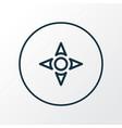 controller icon line symbol premium quality vector image vector image