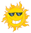 cool sun wearing shades vector image