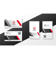 corporate business card design template in red vector image vector image