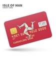 credit card with isle man flag background vector image vector image