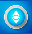cryptocurrency coin ethereum classic etc icon vector image