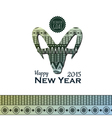Decorative backgroun with goat New Year 2015 vector image