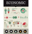 economic infographic vector image vector image