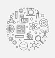 education and science outline round vector image