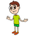 elementary age boy cartoon vector image vector image