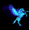 Fair Horse Pegas on hind legs 02 vector image vector image