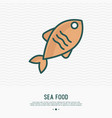 fish thin line icon modern vector image