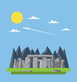 Flat design of stonehenge England vector image vector image