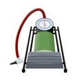 foot pump for car single icon in cartoon style vector image vector image