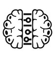 future binary brain icon simple style vector image vector image