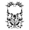 graphic element flowers and frame 2 vector image vector image