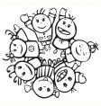 happy children of different races vector image vector image