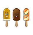 happy ice cream pop art vector image