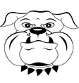 head dog cartoon vector image