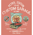 highway gasoline station service and repair vector image