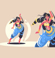 indian girls dance vector image vector image
