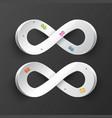 infinity symbol paper infinite road symbols vector image vector image