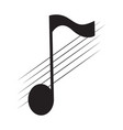 isolated eighth note on a pentagram vector image vector image