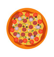 italian whole pizza top view vector image