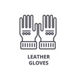 leather gloves line icon outline sign linear vector image