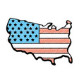 map with flag inside to celebrate patrotism vector image vector image