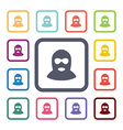 offender flat icons set vector image vector image