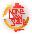 One Day Sale Banner vector image vector image
