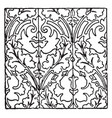 painted gold pattern found on the floor of the st vector image vector image