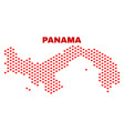 panama map - mosaic of love hearts vector image vector image