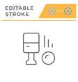 parking machine editable stroke line icon vector image