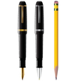 pencil pen fpen vector image vector image