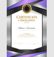 portrait luxury certificate template with elegant vector image vector image